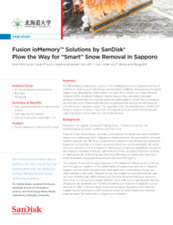 "SanDisk's Fusion ioMemory™ Plows the Way for a Field Trial for ""Smart"" Snow Removal in Sapporo"