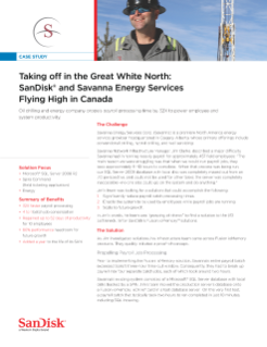 SanDisk and Savanna Energy Services Flying High in Canada